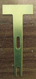 Brass frein blanks for use in making violin and cello pipes, Organ Building.